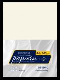 Karton ozdobny do druku dyplomów - kolor kremowy - faktura prążek drapany