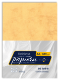 Karton ozdobny do druku dyplomów - kolor zgaszona pomarańcza - deseń marmurowy