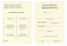 Legitymacja przedszkolna (NOWA!!!) dla dzieci niepełnosprawnych spełniających obowiązek rocznego przygotowania przedszkolnego MEN I/5
