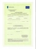 Zaświadczenie o ukończeniu kursu umiejętności zawodowych - UE, KL