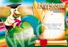 Dyplom ukończenia przedszkola (z treścią, linie pomocnicze) DS14
