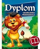 Dyplom ukończenia przedszkola (z treścią, linie pomocnicze) DS15