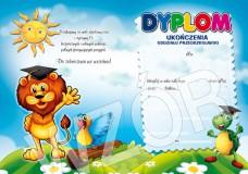 Dyplom ukończenia oddziału przedszkolnego (z treścią, linie pomocnicze) DS20