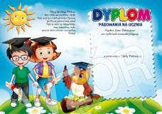 Dyplom pasowania na ucznia DS33 z liniami pomocniczymi