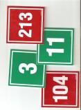 Numery sal z liczbą nietypową (powyżej numeru 40) lub w innym kolorze albo formacie