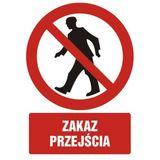 Zakaz przejścia - 21x29 - znak