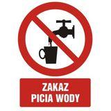 Zakaz picia wody - 21x29 - znak