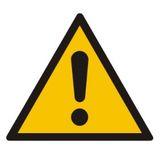 Tabliczka - Ogólny znak ostrzegawczy (ostrzeżenie ryzyko niebezpieczeństwa) - 33x33 cm