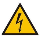 Tabliczka - Ostrzeżenie przed porażeniem prądem elektrycznym - 21x21 cm