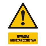Tabliczka - Uwaga niebezpieczeństwo - 15x22 cm