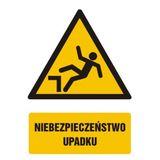 Tabliczka - Niebezpieczeństwo upadku - 21x29 cm