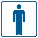 Toaleta męska - Znak
