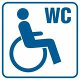 Toaleta dla inwalidów - Znak