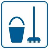Piktogram - Miejsce na środki czystości