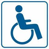 Piktogram - Miejsce dla inwalidów na wózkach