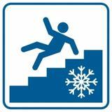Piktogram - Uwaga! Śliskie schody