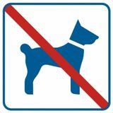 Piktogram - Zakaz wprowadzania psów