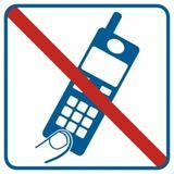 Piktogram - Zakaz używania telefonów komórkowych