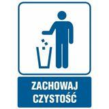Piktogram - Zachowaj czystość-kosz na odpadki