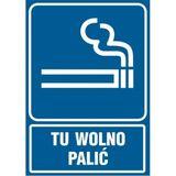Tu wolno palić - Znak