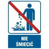 Nie śmiecić - Znak
