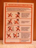 Regulamin placu zabaw - tablica PCV, mniejszy