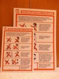 Regulamin placu zabaw, na twardej płycie PCV, mniejszy