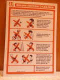Regulamin placu zabaw, na twardej płycie PCV, większy