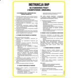 Tablica - Instrukcja postępowania na stanowisku pracy z komputerem i drukarką