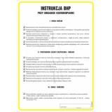 Tablica - Instrukcja BHP przy obsłudze kserokopiarki