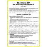 Tablica - Instrukcja obsługi przy obsłudze niszczarki dokumentów