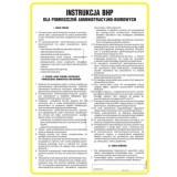 Tablica - Ogólna instrukcja BHP dla pomieszczeń administracyjno-biurowych