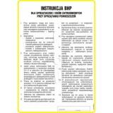 Tablica - Instrukcja BHP dla sprzątaczek i osób zatrudnionych przy sprzątaniu pomieszczeń