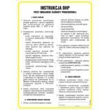 Tablica - Instrukcja BHP przy obsłudze gaśnicy proszkowej
