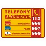 Telefony alarmowe (pozioma) 14,8 x 21 cm