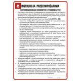 Tablica - Instrukcja przeciwpożarowa w pomieszczeniach biurowych i pomocniczych