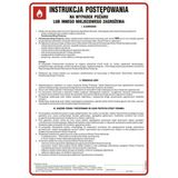 Tablica - Instrukcja postępowania na wypadek pożaru lub innego miejscowego zagrożenia