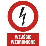 Znak - Wejście wzbronione - 29x42 cm