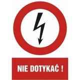 Znak - Nie dotykać - 21x29 cm