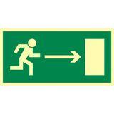 Kierunek do wyjścia drogi ewakuacyjnej w prawo - 15x30 - znak