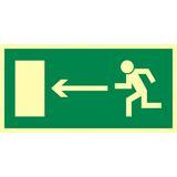 Kierunek do wyjścia drogi ewakuacyjnej w lewo - 15x30 - znak