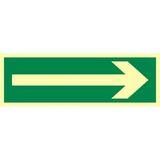 Tabliczka - Kierunek drogi ewakuacyjnej - 20 x 40 cm