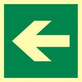 Kierunek drogi ewakuacyjnej - 15x15 - znak