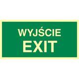 Tabliczka - Wyjście exit - 20 x 40 cm