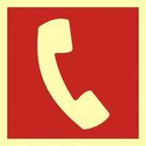 Tabliczka - Telefon do użycia w stanie zagrożenia - 15 x 15 cm