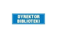 Dyrektor biblioteki - tabliczka na drzwi