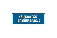 Tabliczka na drzwi - Księgowość-administracja