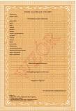MEN-I/13b/2 - świadectwo dla uczniów gimnazjum dla dzieci i młodzieży oraz dla słuchaczy gimnazjum dla dorosłych, zawierające znak graficzny PRK II. Format A4