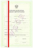 Dyplom szkoły artystycznej, z wyróżnieniem, ART/42/w