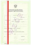 Dyplom szkoły artystycznej, z wyróżnieniem ART/43/w